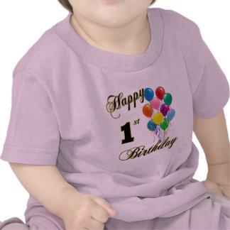 1st födelsedagspädbarn och skjortor för lycklig t shirts