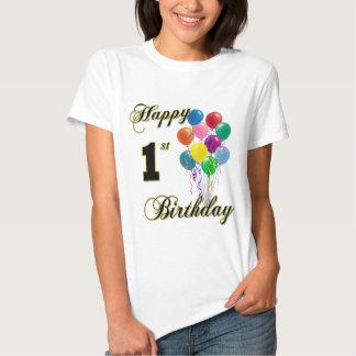 1st födelsedagspädbarn och skjortor för lycklig tröja