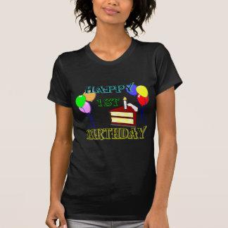 1st födelsedagT-tröja för lycklig med Tshirts