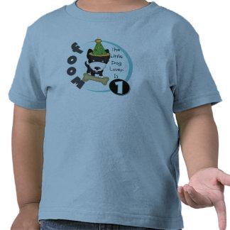 1st födelsedagT-tröja och gåvor för hund älskare