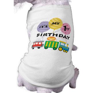 1st Födelsedagtågfödelsedag T-shirt För Husdjur