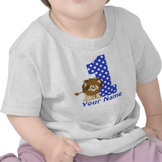 1st För blåttpersonlig för födelsedag lejon skjort T-shirt