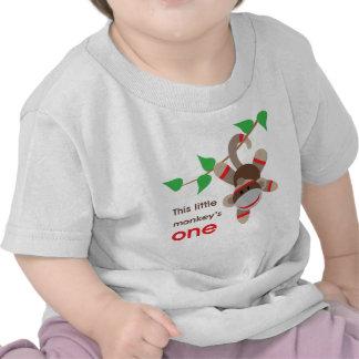 1st För födelsedag apaskjorta lite T-shirt