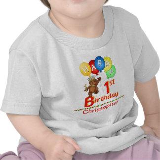 1st För nalleBeary för födelsedag Regal namn anpas T Shirts
