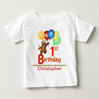 1st För nalleBeary för födelsedag Regal namn T-shirts