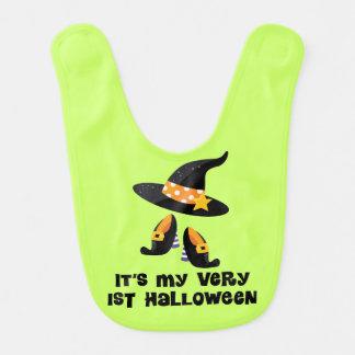 1st Haklapp för spädbarn för Halloween babyhäxa