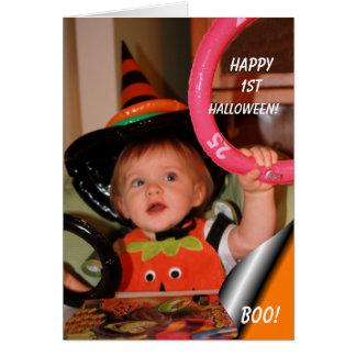 1st Halloween bukort Hälsningskort