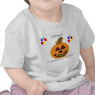 1st Halloween födelsedagpumpa & ballongT-tröja