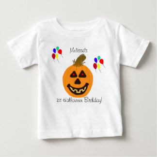 1st Halloween födelsedagpumpa & ballongT-tröja Tshirts