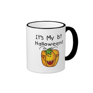 1st Halloween för jack o lantern T-tröja och gåvor Ringer Mugg