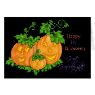 1st Halloween för lycklig stor- sondotter Hälsnings Kort