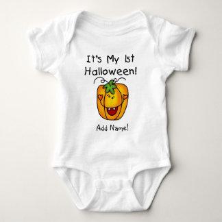 1st Halloween för personligpumpa ranka Tee Shirt