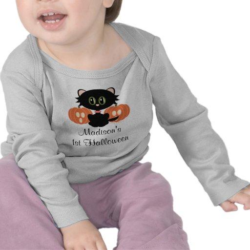 1st Halloween för svart katt T-tröja
