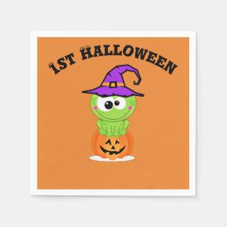 1st Halloween lite häxagroda Servetter