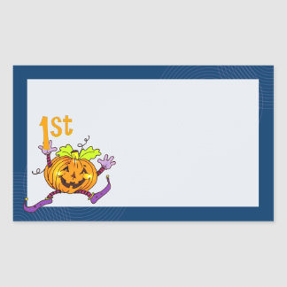 1st Halloween lyckligpumpa Retangel Klistermärke