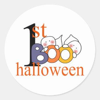 1st Halloween spökeBU! Runda Klistermärken