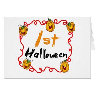 1st Halloween Tshirts och gåvor Kort