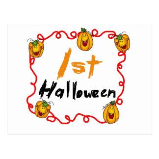 1st Halloween Tshirts och gåvor Vykort