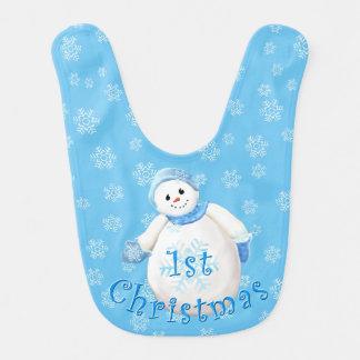 1st Jul gullig snögubbe och snöflingor Hakklapp