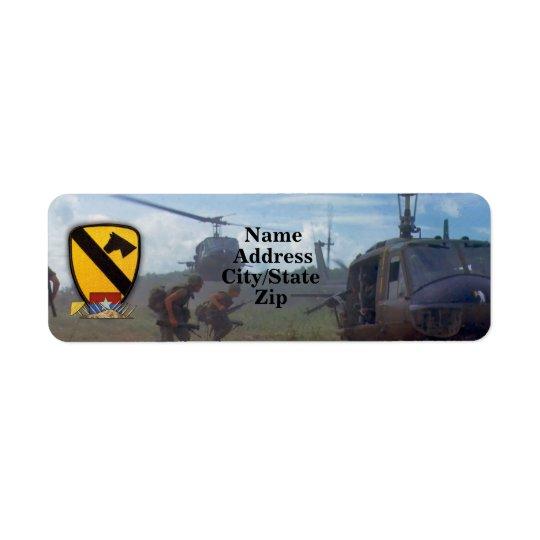 1st kavalleri luftar krig för cavvietnam nam returadress etikett