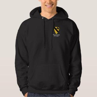 1st KavalleriuppdelningsHoodie Sweatshirt Med Luva