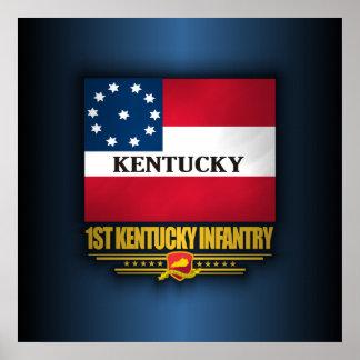 1st Kentucky infanteri Poster
