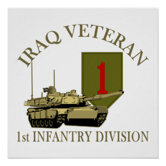1st legitimationIrak Vet - tank M1 Poster