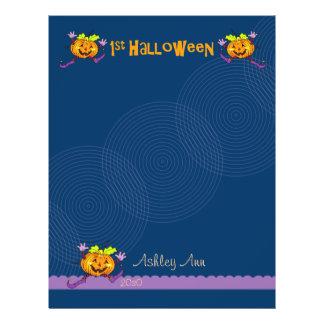 1st Papper 1 för Halloween pumpaScrapbook Flygblad