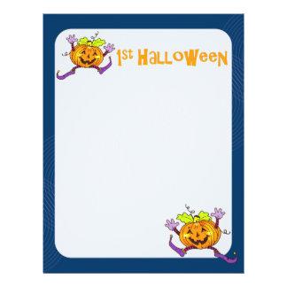 1st Papper 2 för Halloween pumpaScrapbook Reklamblad 21,5 X 30 Cm
