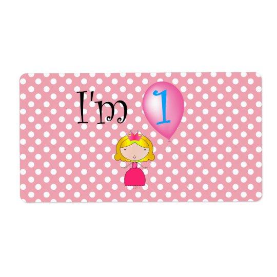 1st Polka dots för födelsedagprincessrosor Fraktsedel