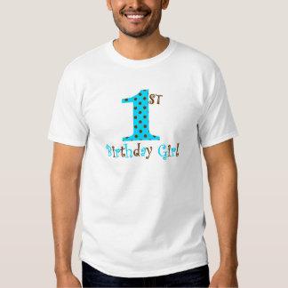 1st Polkaen för den födelsedagflickakrickan och T-shirts