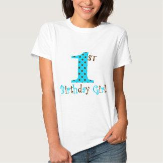 1st Polkaen för den födelsedagflickakrickan och T Shirts
