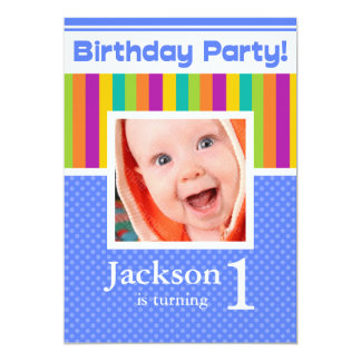 Browse the Boy's Birthday Invitations Collection and personalize by color, design, or style.