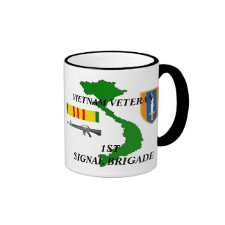 1st Signalera kaffe koppar för den brigadVietnam v