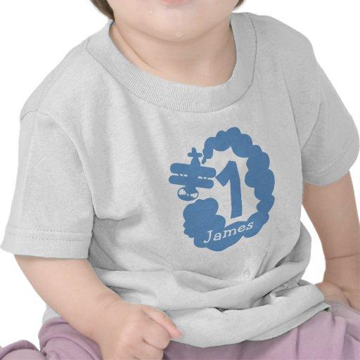 1st Skjorta för flygplan t för personlig för T Shirt