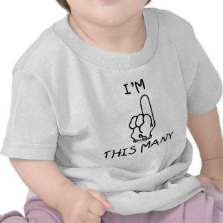 1st Skjorta för födelsedag T T Shirt