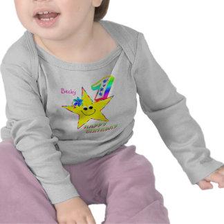 1st Skjorta för födelsedagSmileystjärnor