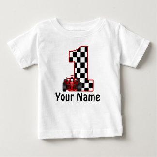 1st Skjorta för personlig för födelsedagtävlingbil T-shirt