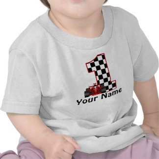 1st Skjorta för personlig för födelsedagtävlingbil Tee Shirt