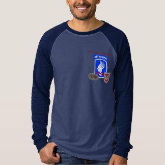 1ST SKJORTA för RAGLAN för INFANTERI 503D L/S för T Shirts