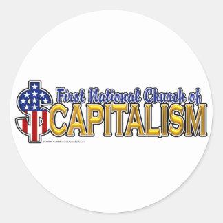 1st Statskyrka av kapitalism Runt Klistermärke