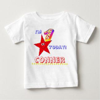 1st Stjärnor för Smiley för födelsedagsfestskjorta T Shirts