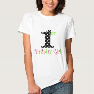 1st Svarten för födelsedagflickarosor och T-shirts