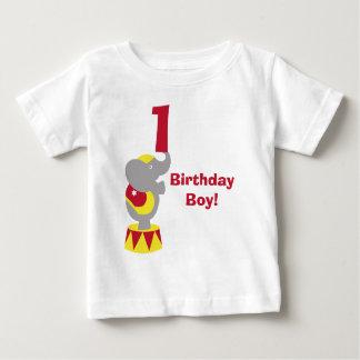 1st T-tröja för födelsedagcirkuselefant Tee