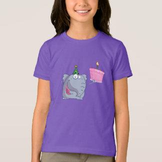 1st T-tröja för födelsedagsfesttårtaflickor T-shirts