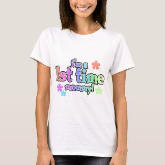1st Time Mamma-Regnbåge T-tröja och gåvor T Shirts