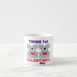 1st valentines day för twillingar espressomugg