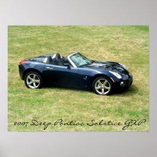 2007 djupblå bild för Pontiac Solstice GXP Poster