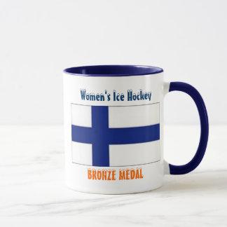 2010 kvinna ishockey - bronsmedalj mugg