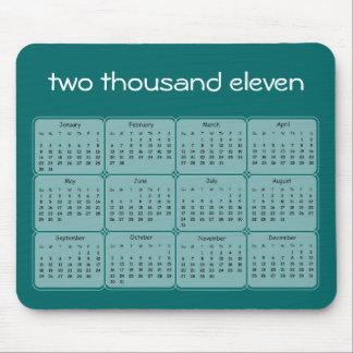 2011 grundläggande kalender Mousepad Mus Matta